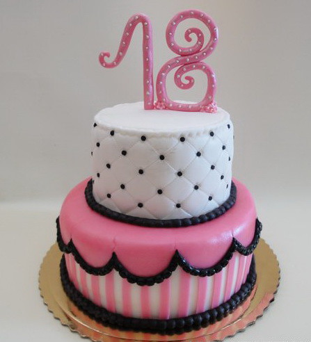 Cake Design 18th Birthday Girl : 18th Birthday Cake London Cake Design : London, Dorset ...