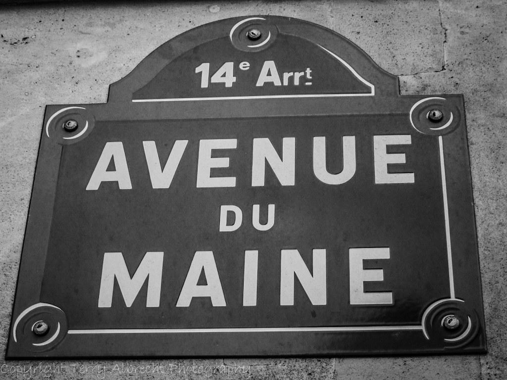 Paris avenue du maine typical street sign in paris flickr for Garage avenue du maine