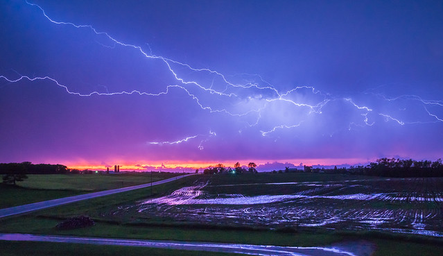 Lightning, Bolts, Evening, Rural, Electricity, Electric, Atmosphere