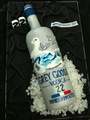 Cakeaters Edible Arts : grey goose cake Flickr - Photo Sharing!
