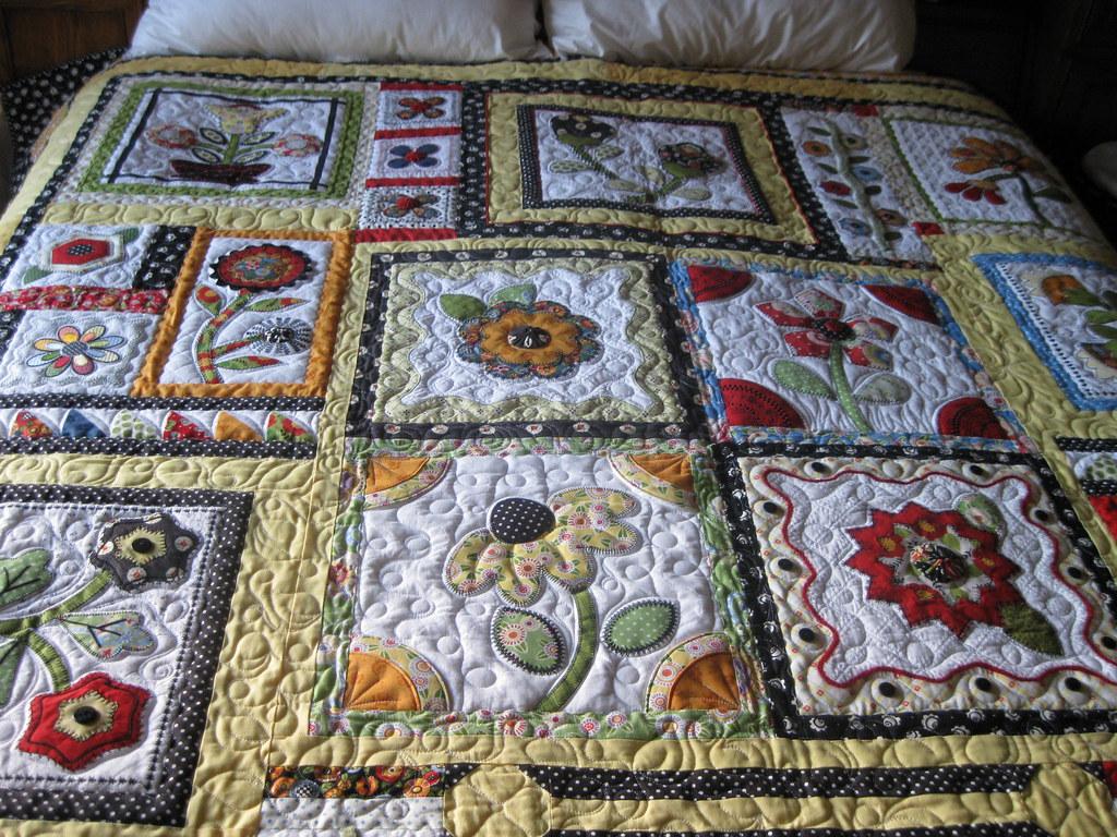 Stitcher's Garden BOM FINISHED!! | Quilt started in 2010 ...