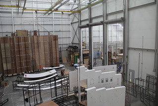 The build area at the Bob and Tamar Manoukian Production Workshop © ROH 2012 | by Royal Opera House Covent Garden