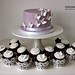 Lilac & White Butterfly Wedding Cupcakes