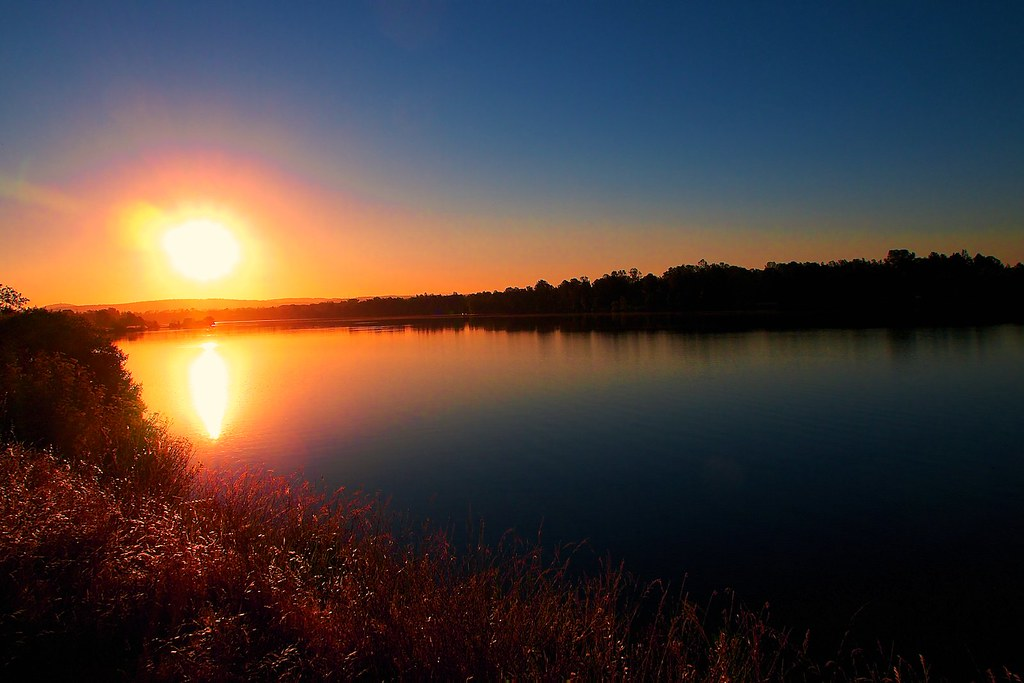 Sunrise at natoma lake california the lake was created for Lake natoma fishing