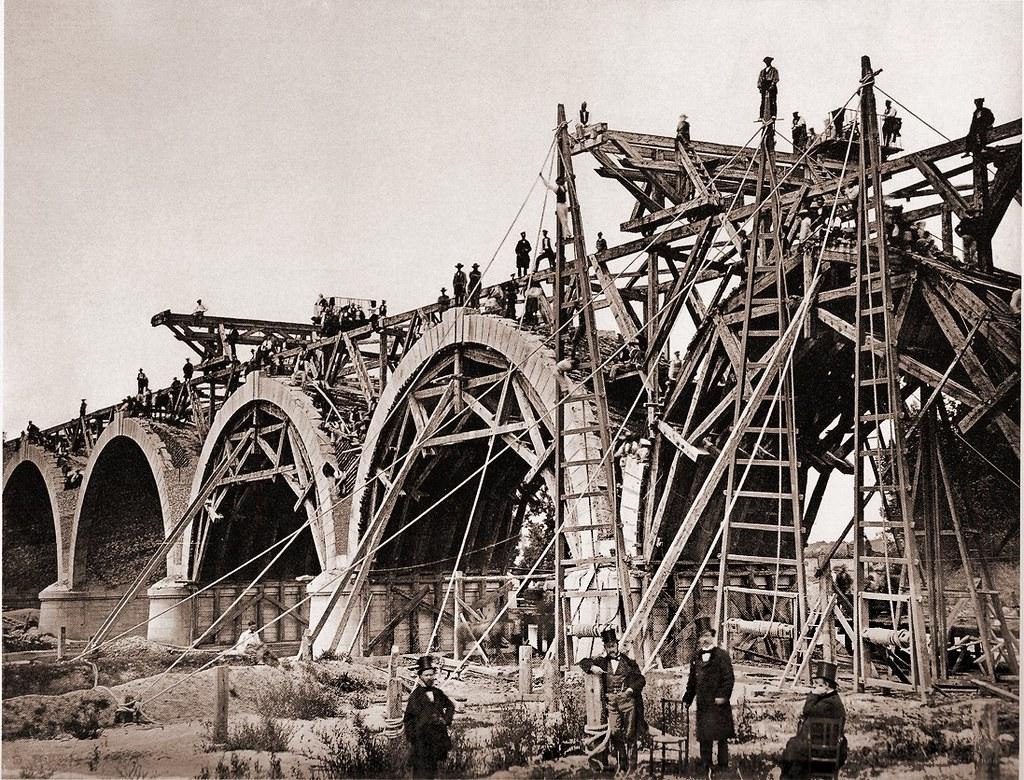 Construcci n del puente de los franceses madrid 1859 - Empresas de construccion en madrid ...