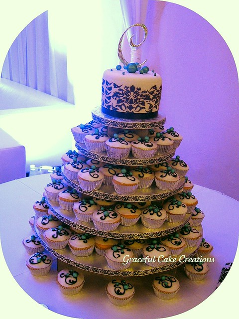 Swarovski Monogram Wedding Cake Toppers