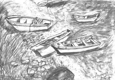 Boat Scenery Drawing Aupoman-scenery-drawing