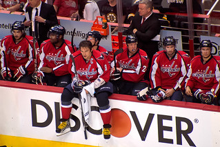 Ovechkin Sits on Boards | by clydeorama