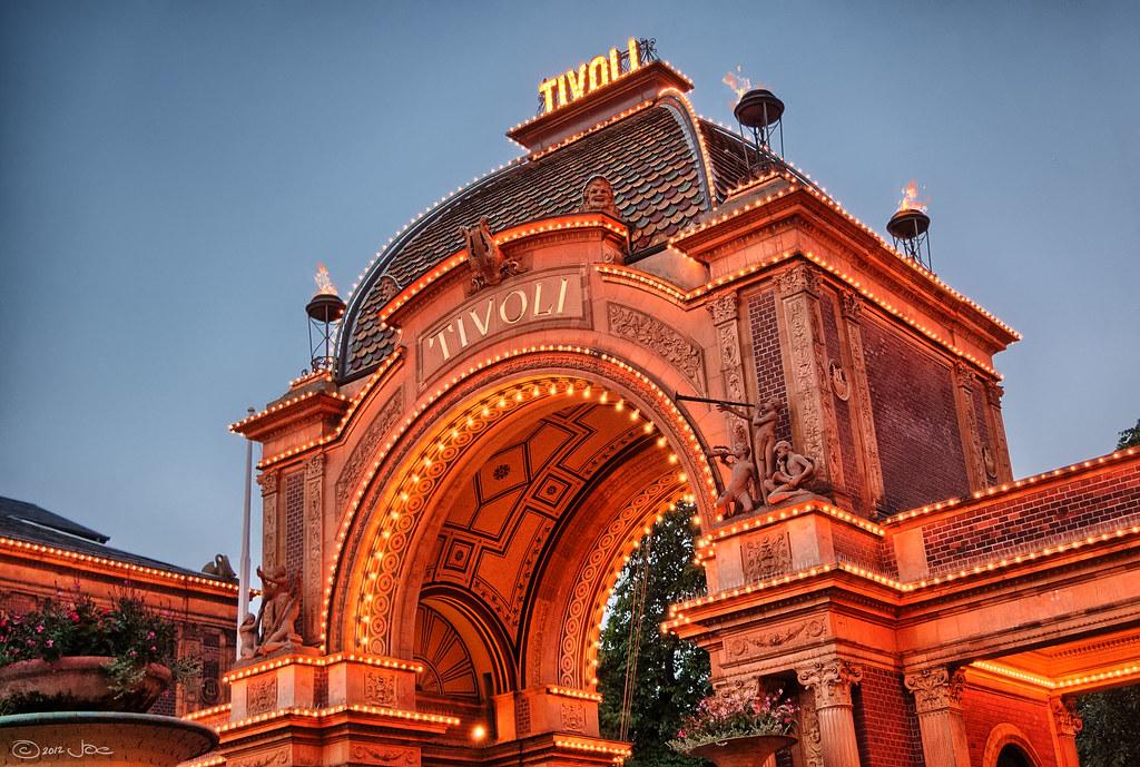 Entrance to Tivoli Gardens, Copenhagen   Tivoli Gardens is ...