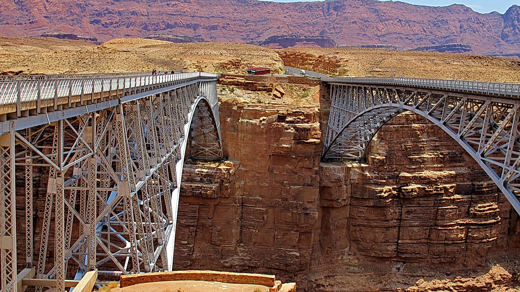 Navajo Bridge Old And New Marble Canyon On Our Way