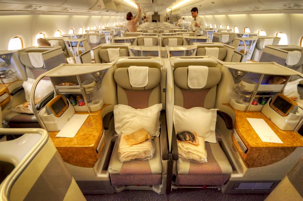 Business ClassKabinenausstattung  Fliegen mit Emirates