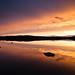 Sunset at lake Tuomiojärvi