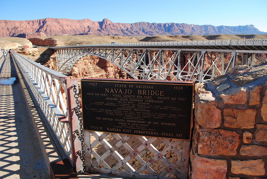 Navajo Bridge And Echo Cliffs These Two Bridges Plus