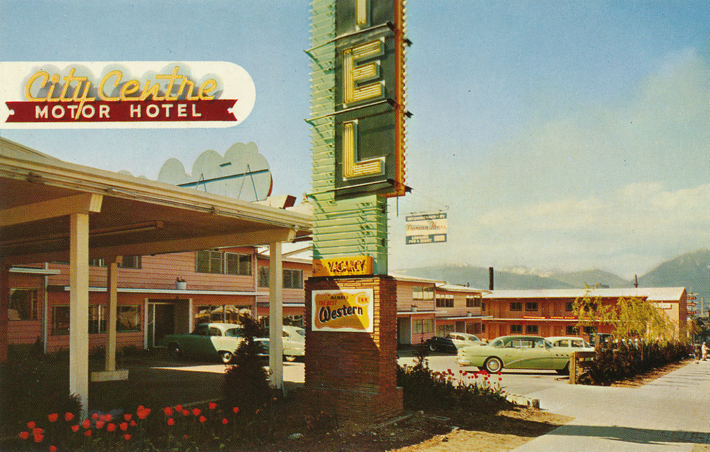 Postcard city centre motor hotel 1956 city centre for City center motor hotel vancouver