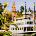 Summer in bloom along the Rivers of America