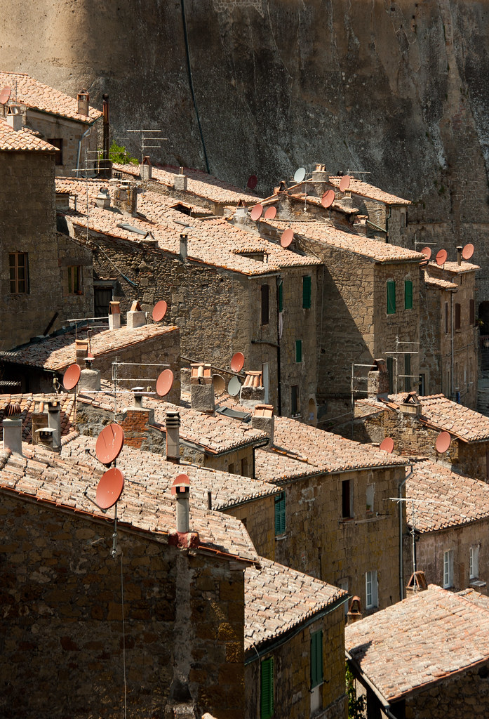 Sorano satellite dishes
