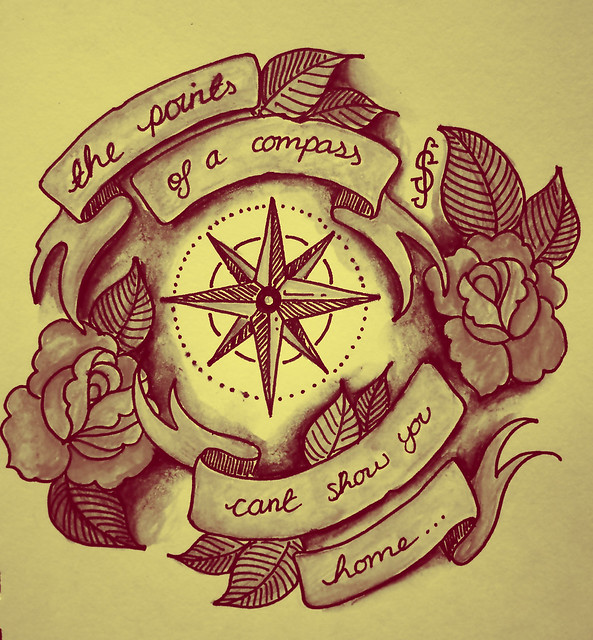 Compass Tattoos With Quotes Tattoo Style Illustration