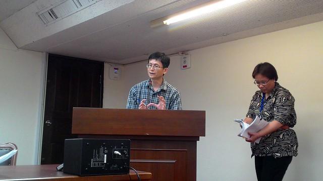 環保署副署長詹順貴發言。攝影:林倩如。