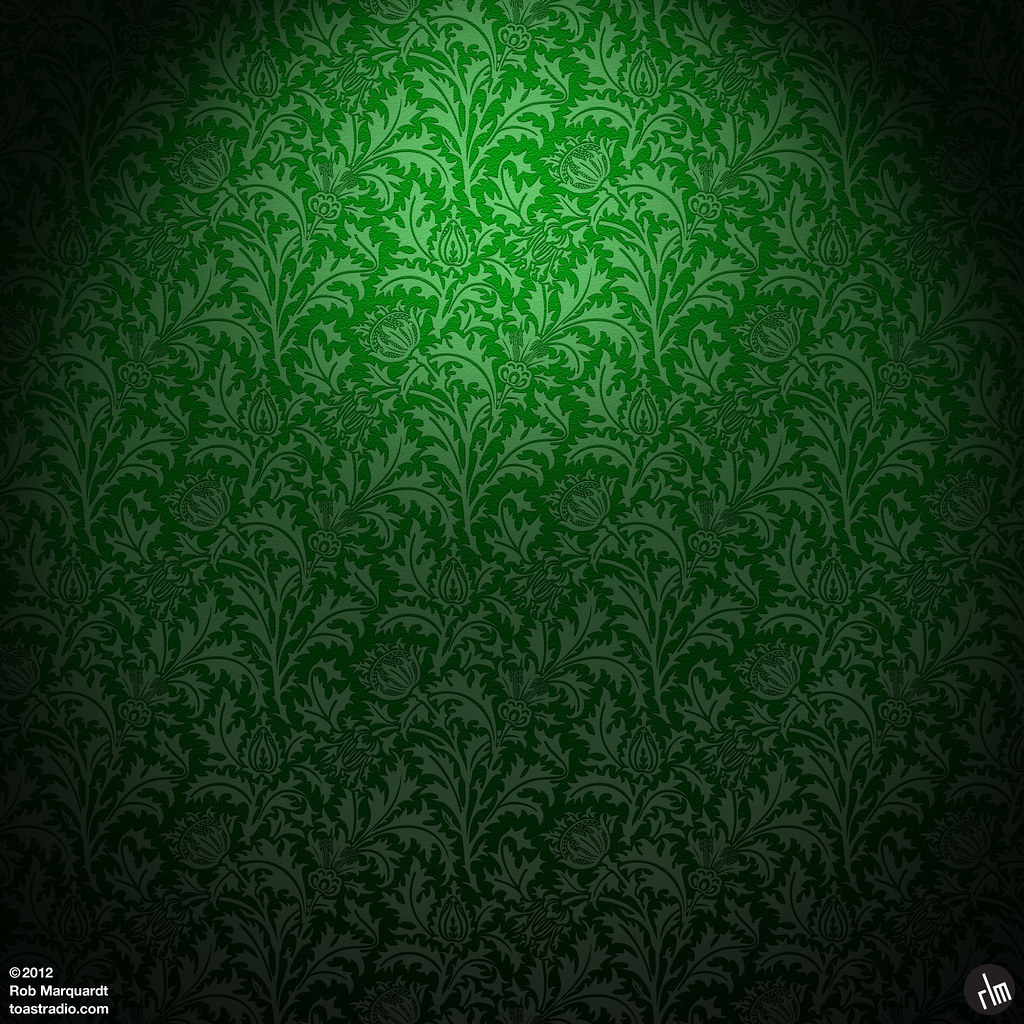 iPad: Green thistle wallpaper HD