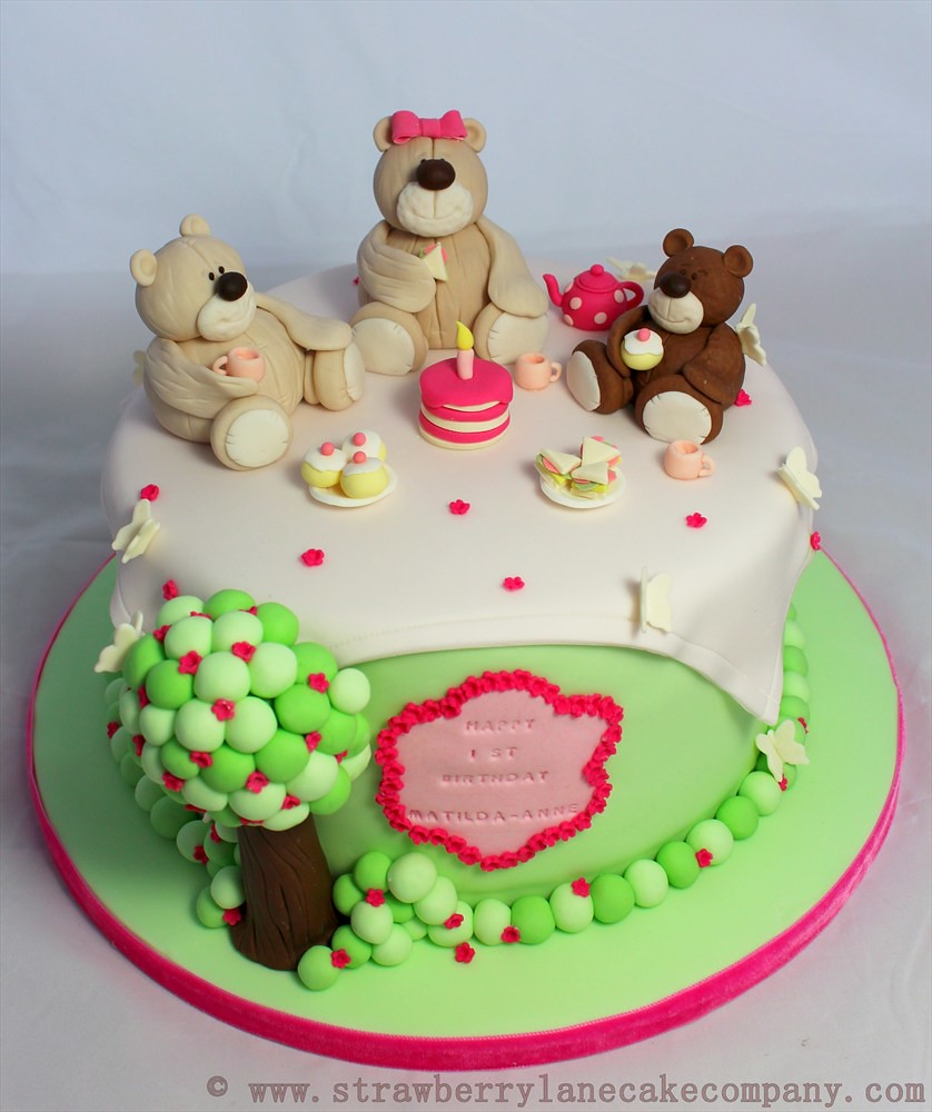 Teddy Bears Picnic Cake For Matilda Anne Made For A