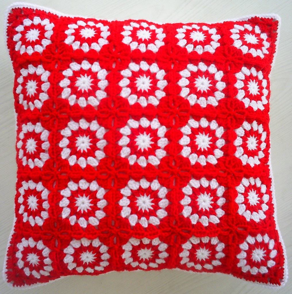 Close To Christmas Granny Square Cushion Cover To Come