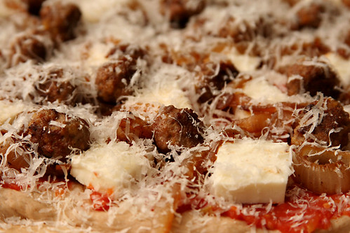 lamb meatball pizza 2 | by crumblycookie