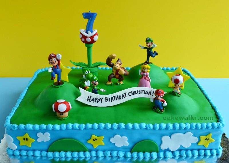Super Mario Bros Cake Toppers