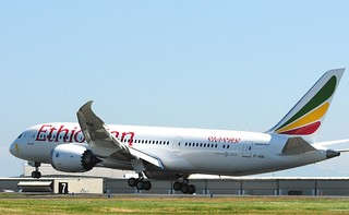 Ethiopian ET-AOQ Boeing 787 Back From Paint 7-25-12 | by moonm