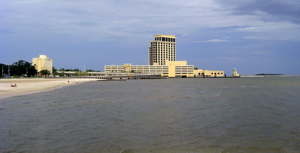 Biloxi fishing pier view of beau rivage casino flickr for Fishing in biloxi ms