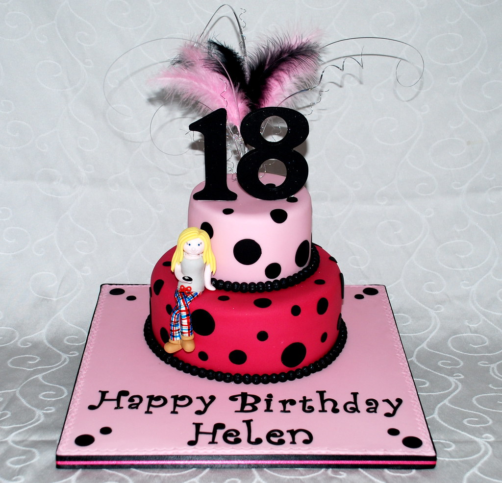 A Funky 18th Birthday Cake, Featuring A