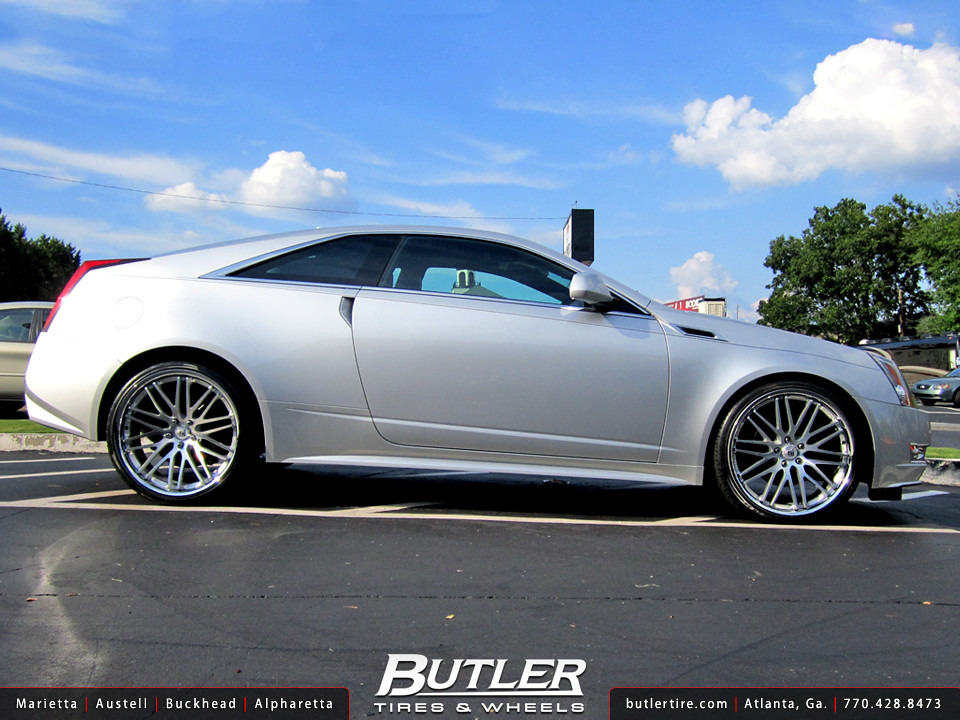 Cadillac CTS Coupe with 22in Lexani CVX44 Wheels ...