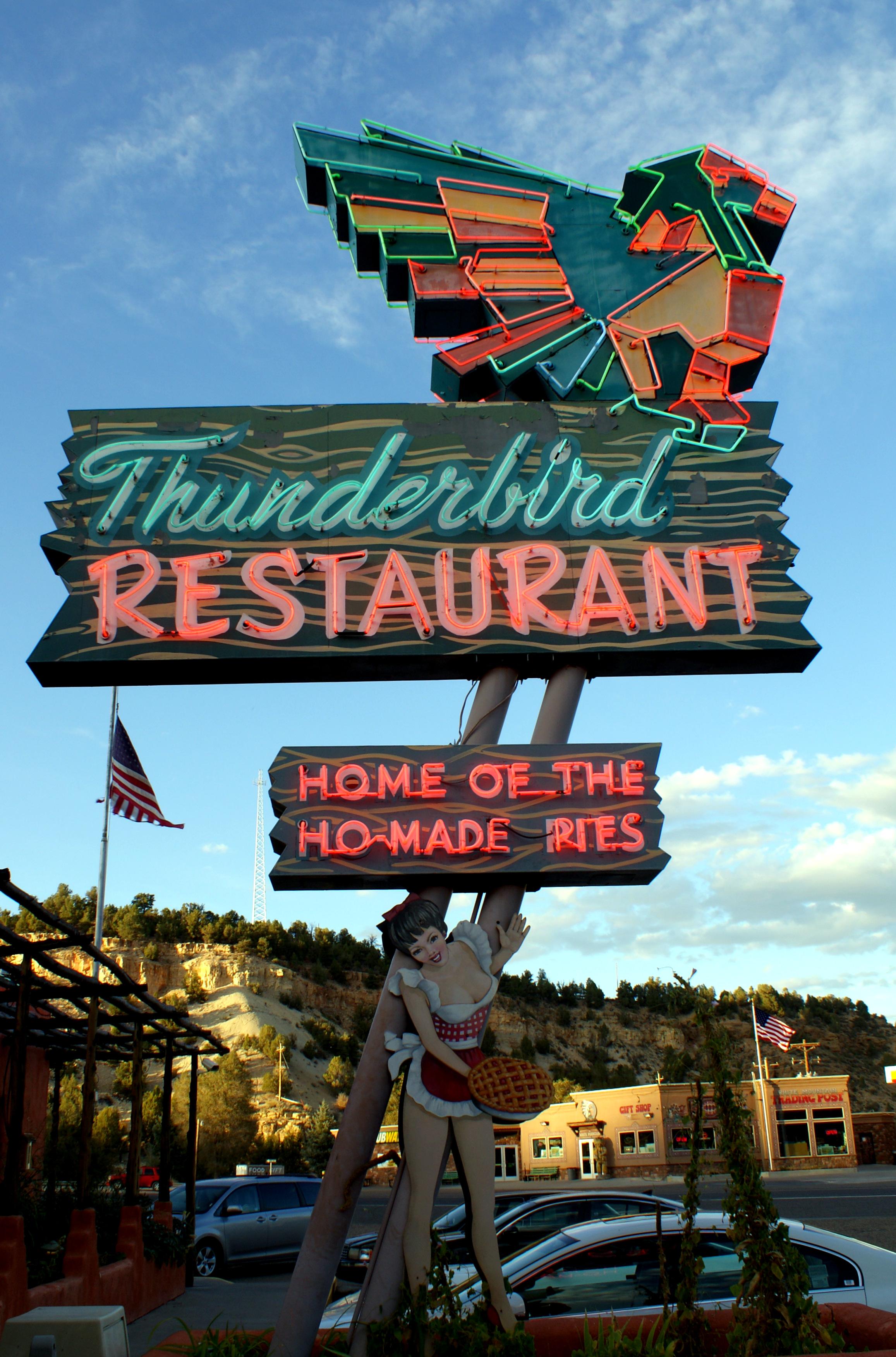Thunderbird Restaurant - Junction U.S. Route 89 & Utah State Route 9, Mount Carmel, Utah U.S.A. - October 10, 2012