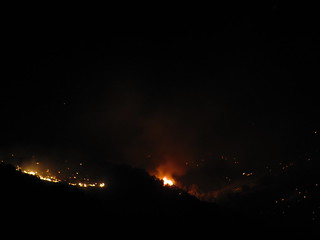 Nightime Shot of the Palisade Fire in Nevada | by Jeremy-R-Michael
