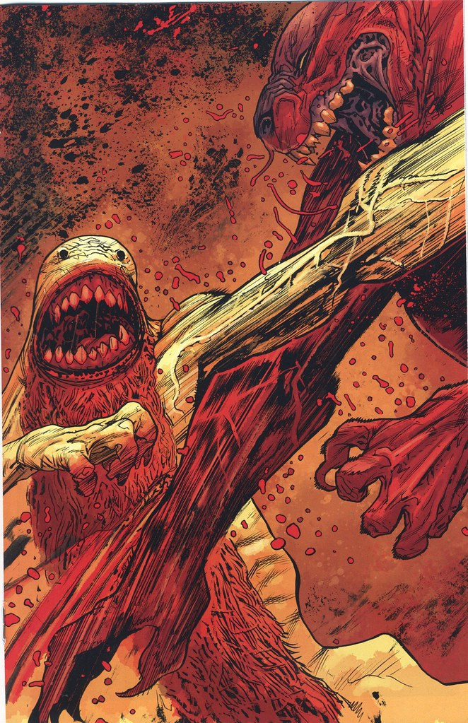 Wendigo Vs Were Jaguar From B P R D Hell On Earth The