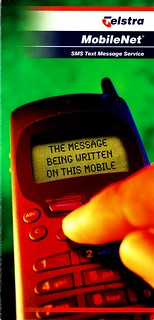 Telstra brochure explaining text messages: page 1 | by Daniel Bowen
