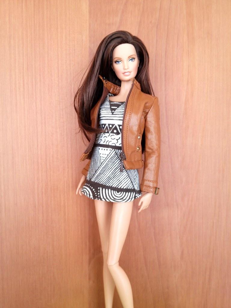 Zoe In A Leather Jacket She Wears Dress By Ttya Jack Flickr