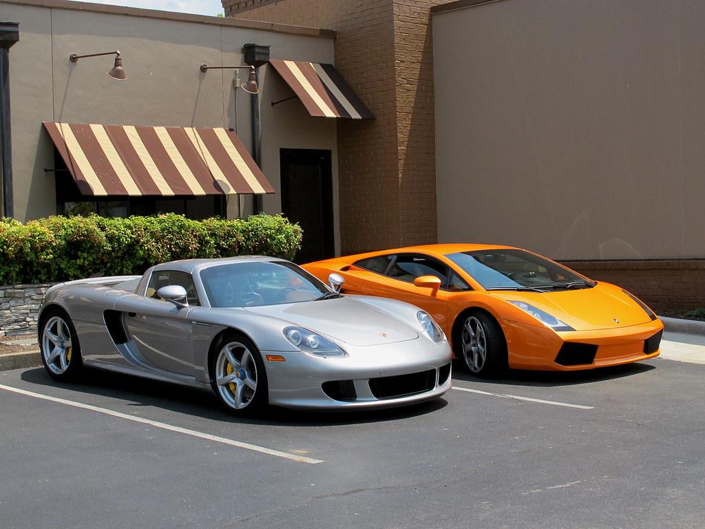 Porsche Carrera Gt And Lamborghini Gallardo Spotted At J
