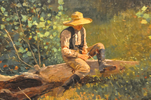 Winslow Homer - The Whittling Boy, 1873 at Institute of Art Chicago IL