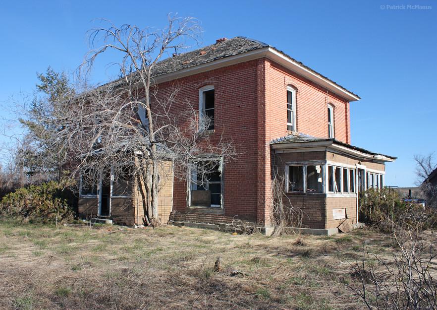Abandoned brick house eastern washington this stately