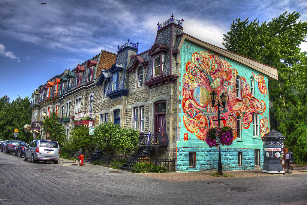 graffiti in quartier latin montreal qc hdr onur. Black Bedroom Furniture Sets. Home Design Ideas