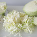shredding the cabbage