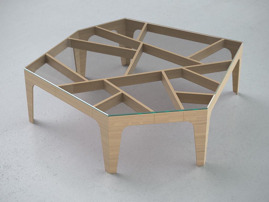 Chinese Lattice Coffee Table View 1 1000x1000x300mm Cnc Flickr