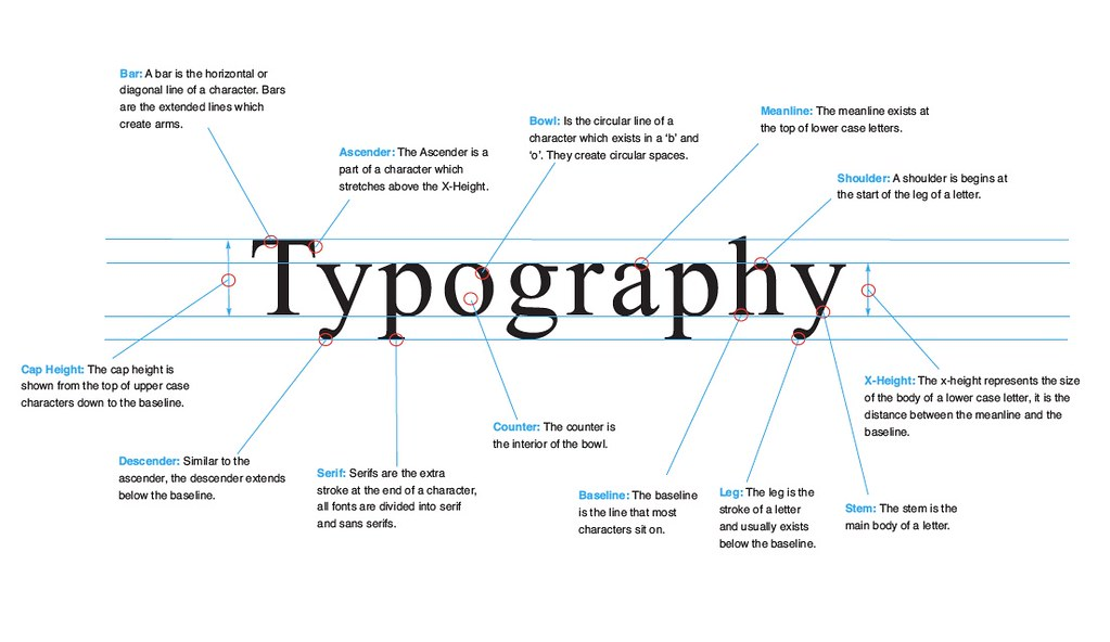 Anatomy Of Typography Here Is A Piece Of Design Work I