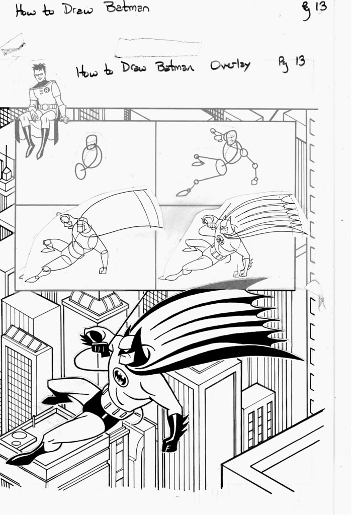 How To Draw Batman In 3d