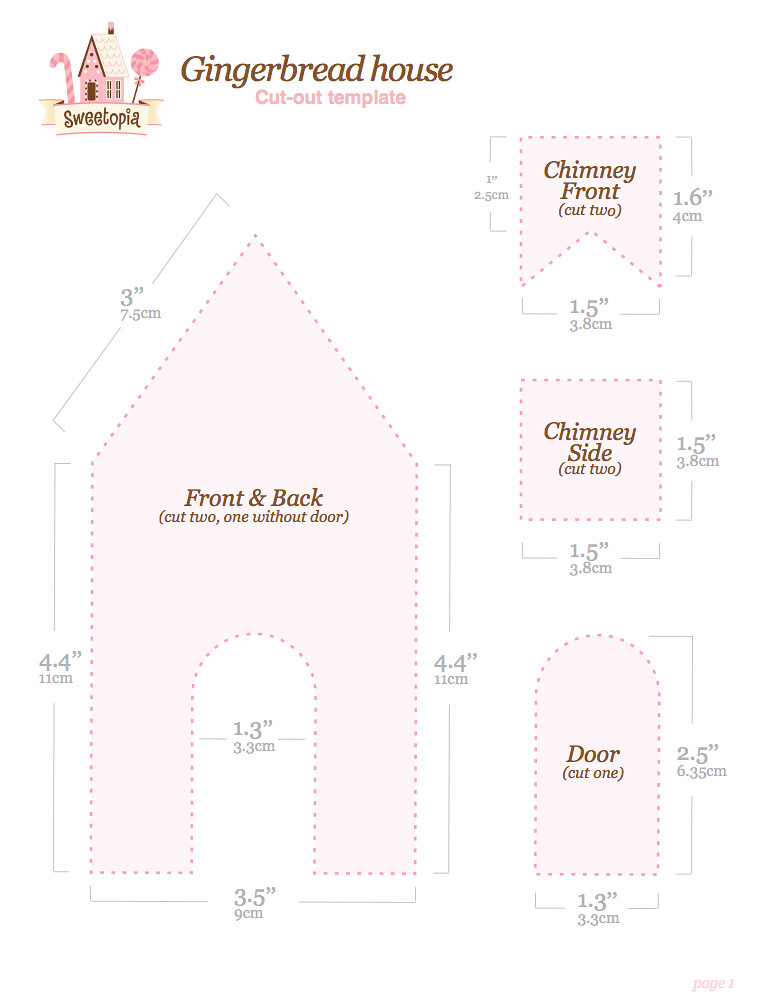 Vibrant image intended for gingerbread house templates printable