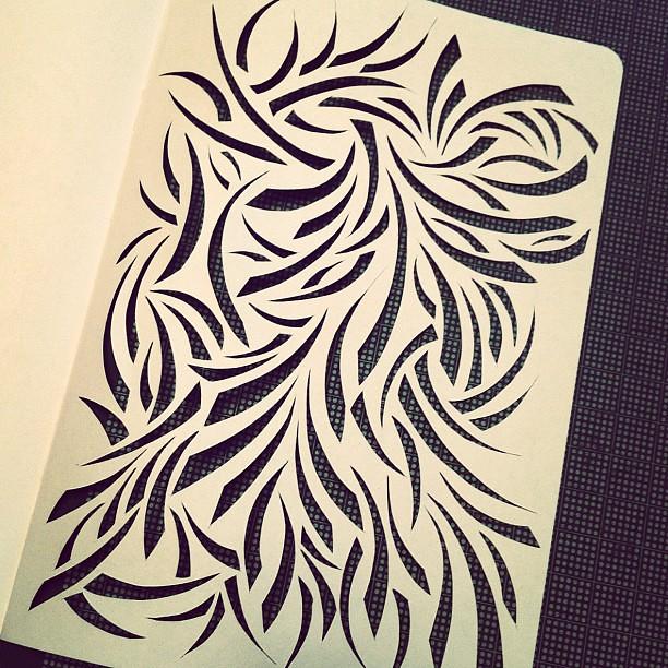 Wall Design Paper Cutting : Sketchbook project work in progress paper cuts my