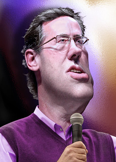 Rick Santorum - Caricature | by DonkeyHotey