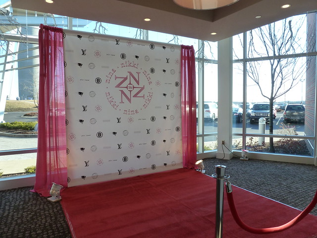 Step And Repeat Mural Sweet 16 Party Flickr Photo Sharing