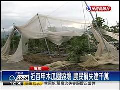 氣候災害導致農損達千萬(擷取自民視新聞報導畫面)