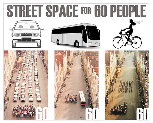 Street Space For 60 People: Car, Bus, Bicycle | by carltonreid